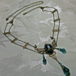 Peacock Blue Victorian Choker Necklace