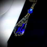 Royal Blue Victorian Earrings