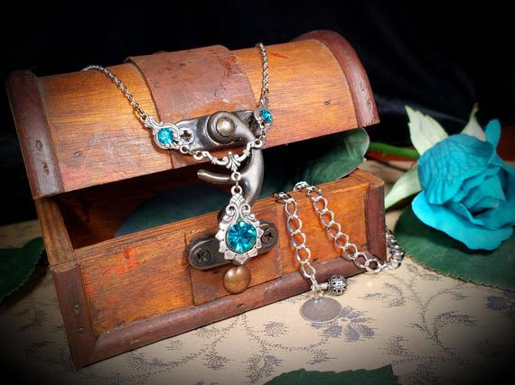 Blue Zircon New Silver Necklace 3