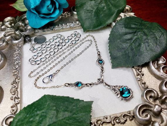 Blue Zircon New Silver Necklace 5