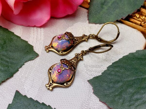 Pink Opal Earrings A1