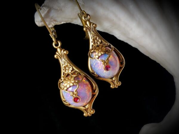 Pink Opal Earrings A2