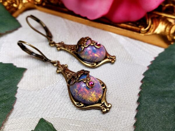 Pink Opal Earrings A5