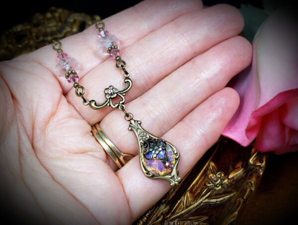 Pink Opal Necklace A3